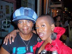 "#TBThursday Two powerful ""shorties."" Fa REAL do. Da Oracle and the Songstress: Val Jones and YahZarah St James"