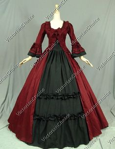renaissance handmade OVER dress ONLY burgandy many sizes theater quaility