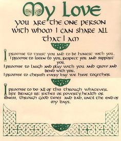 Irish vows