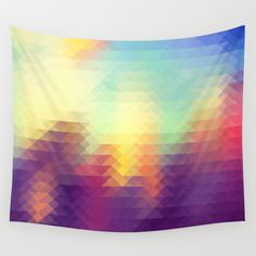 Triangle design Wall Tapestry