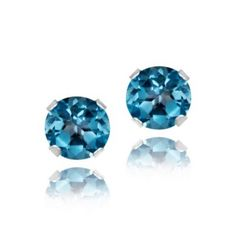 @Overstock - Basic and beautiful, these stud earrings are the perfect size and color for everyday wear. Each of these earrings features one round London blue topaz stone set into high polished sterling silver. http://www.overstock.com/Jewelry-Watches/Glitzy-Rocks-Sterling-Silver-4mm-London-Blue-Topaz-Stud-Earrings/5798267/product.html?CID=214117 $8.29 Can ya believe the price?? Go for it ladies!