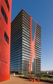 Porta Fira Towers, Barcelona, Spain by jmhdezhdez, via Flickr