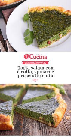 Torta salata con #ricotta, #spinaci e #prosciutto cotto