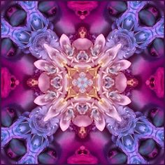 Reminds me of a kaleidoscope. Fractal Images, Fractal Art, Fractal Design, Sacred Geometry, Color Splash, Amazing Art, Beautiful, Shapes, Creative