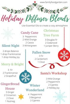 Christmas Holiday Essential Oil Diffuser Blends