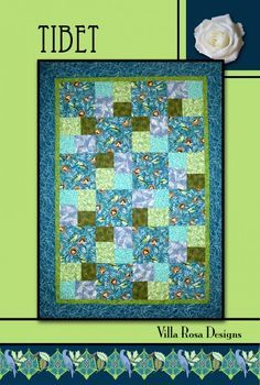 Tibet quilt pattern by Pat Fryer, Villa Rosa Designs
