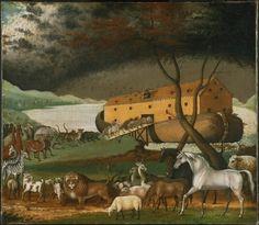 Arca de Noé. Cuadro de Edward Hicks. Antiguo Testamento.