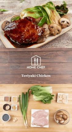We put a healthy twist on a take-out classic with this teriyaki chicken. A marinade of soy sauce infused with mirin, honey, and our own spice blend provides a sweet-umami foundation for tender chicken breasts before they're pan-roasted to sticky, delicious perfection. Served alongside stir-fried baby bok choy and mushrooms, this is a low-carb, low-calorie dinner that comes together lickety-split and is still finger-lickin' good.