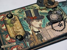 With A Grin: Graphic 45 Steampunk Debutante Policy Mini Album (Bluemoon DT Project)