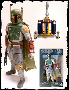 Custom Black Series Boba Fett ROTJ: Acrylic Paint - used Apple Barrel brand from Wal Mart $0.50 each. White, Golden Sunset, Admiral Blue, Black & Tuscan Red. Round Toothpicks - Use them instead of a small brush, they provide more control & detail. Hint - dilute paint with water so it spreads even with no globs. The cape: In a half cup of water, mix small amounts of Red, Blue, & Yellow until water is Brownish Green. Dip the cape to dye it, dab it dry & repeat until desired color. Good Luck.
