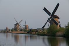 Windmills in Kinderdijk, The Netherlands