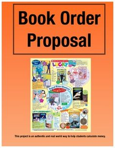 [Free] Book Order Proposal: Real Life Problem Solving for the Classrooom (Grades 3-5)  Students problem solve to figure out what books they would like for their classroom library. Great activity for grades 3-5, adding decimals and thinking through the problem.  Great for working on those standards for mathematical practice.