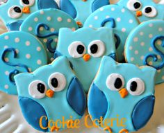 Owl+Decorated+Cookie+Favors+Birthday+Party+Baby+by+CookieCoterie,+$26.00