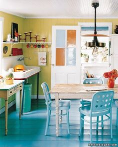 Color Under Your Feet: A Gallery of Painted Kitchen Floors   Painted ...