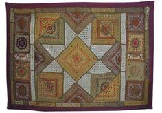broderie coton indien mur Patchwork mur ethnique Art 94x 142,2cm