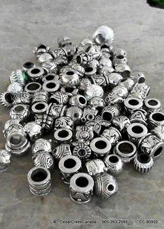Phenomenal Clearance Sale of European Silver Coloured Metal Beads       Random Mix                                    CC-80502