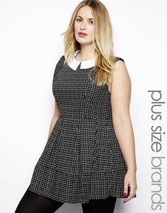 Alice & You   Alice & You Structured Skater Dress at ASOS