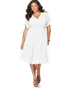 in LOVE with this @DKNY #DKNYC plus-size white dress. Perfect for ...