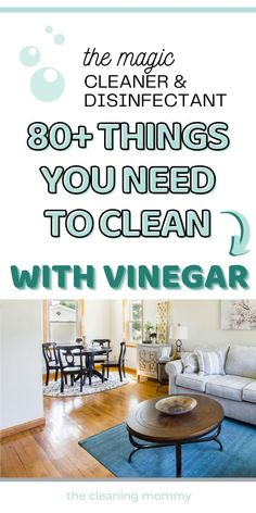 Deep Cleaning Checklist, House Cleaning Tips, Cleaning Hacks, Vinegar For Cleaning, Uses For White Vinegar, Vinegar Uses, Everyday Hacks, Homemade Cleaning Products, Diy Cleaners