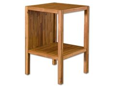 """Width: 17.91"""" Height: 27.95"""" Depth: 17.91""""  Shop for Uttermost Gunnar, End Table, 25533, and other Living Room Tables at Walter E. Smithe in 11 Chicagoland locations in Illinois and Merrillville, Indiana. Acacia wood with natural, golden teak oil finish."""