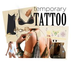 """Tempoprary tattoo"" by vanja-bonny-cabdaric on Polyvore featuring beauty, Flash Tattoos, Zimmermann and Miss Selfridge"