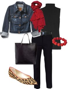 """leopard & red"" by stantau ❤ liked on Polyvore"