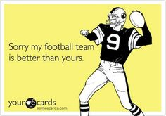My teams are Patriots and Broncos! College Football Season, Football Love, Football Baby, Football Memes, Football Team, Football Shirts, Nfl Memes, Football Football, Humor