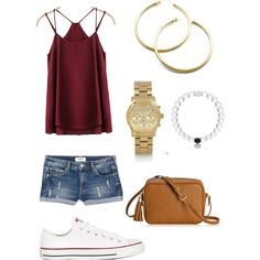 Untitled #73 by ktanner02 on Polyvore featuring polyvore, fashion, style, MANGO, Converse, GiGi New York and Michael Kors