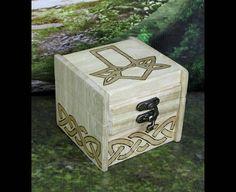 Runebox Yggdrasill woodburning Wooden box Yggdrasill box