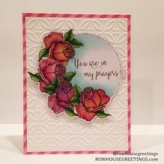 Rowhouse Greetings   Sympathy Card   Rose & Chamomile by Power Poppy
