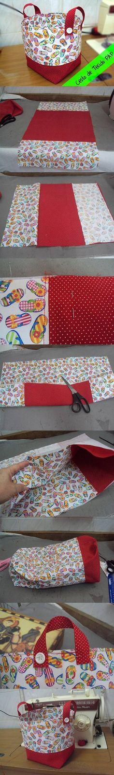 DIY Easy Fabric Basket DIY Easy Fabric Basket by diyforever DIY Easy Stoffkorb DIY Easy Stoffkorb von diyforever This image. Sewing Hacks, Sewing Tutorials, Sewing Patterns, Free Tutorials, Craft Tutorials, Fabric Crafts, Sewing Crafts, Diy Crafts, Sewing Diy