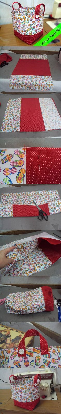 DIY Easy Fabric Basket DIY Projects / UsefulDIY.com
