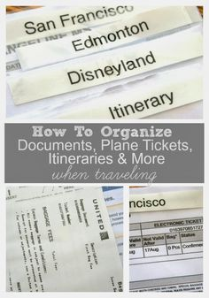 Keep track of those important documents! How to Organize Travel Documents When Traveling