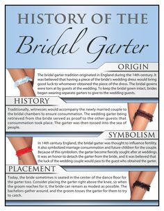 The history of the Bridal Garter! #wedding #garter: See I told you the history of the garter was very interesting!