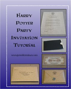 Harry Potter Party Invitations DIY Tutorial. Make your own beautiful invitations to set the tone for your party.