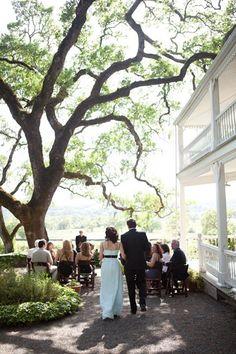 Real Weddings Andrea Moayas Spontaneous California Ranch Wedding