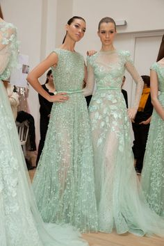"ellie saab couture. Lady Gaga did say that mint green would be the ""it"" color this spring."