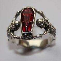 Casket ring. Memento mori