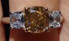 Chocolate diamond ring | yellow brown diamond rings