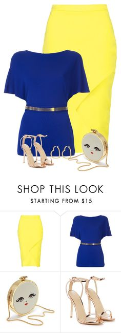 """Dollface Clutch & Asymmetric Skirt"" by majezy ❤ liked on Polyvore featuring Boohoo, Lanvin, Nasty Gal and Henri Bendel"