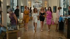 Sex and the City 2 - Girls go shopping in a luxury goods department store based on 5th Avenue.