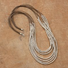 Beaded Leather Necklace - Acacia