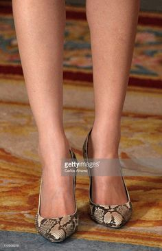 Princess Letizia of Spain (shoe detail) recieves President of Irelandat the Royal Palace on March 21, 2011 in Madrid, Spain.