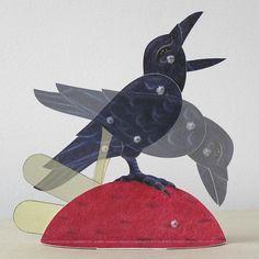 Moving Paper Crow - Bliss Kolb Automata