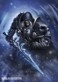 World of Warcraft Warcraft Legion, Warcraft Art, World Of Warcraft, Arthas Menethil, Blizzard Warcraft, Death Knight, Undead Knight, Dc Comics, Lich King