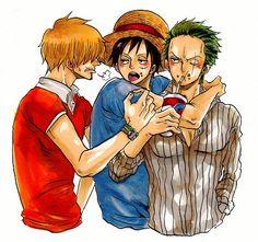 Monkey D. Luffy, Roronoa Zoro x Sanji #one piece #zosan #zolu