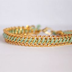 A tutorial on how to make a variation of the woven chain bracelet using embroidery thread.