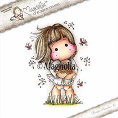 Magnolia Stamps - Spring Fever - Dandelion Tilda now available at The Rubber Buggy