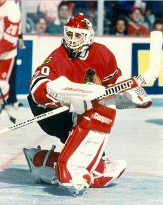 Ed belfour Goalie Pads, Goalie Gear, Hockey Goalie, Hockey Players, Ice Hockey, Eddie The Eagle, Nfl Fans, National Hockey League, Chicago Blackhawks