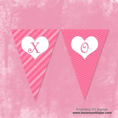 printable xoxo banner for valentine's